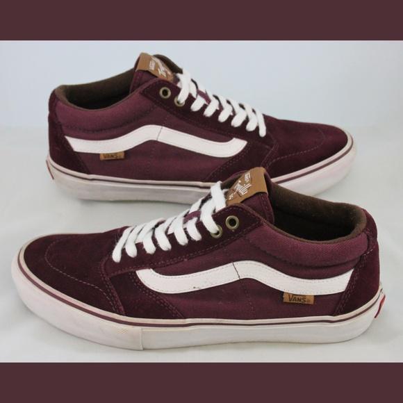 e16c26e4177c46 Vans TNT SG Trujillo Pro Skate Shoes Maroon 10.5. M 5c4bc682df030738a82bede8